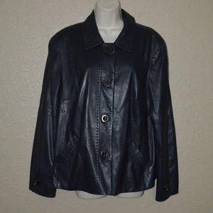 Sz 14 Worth Black Super Soft Leather Jacket